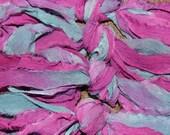 """Handpainted """"rag"""" Silk chiffon ribbon 5 yards - Verona - new lower price"""