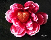 Smells like Love- Rockabilly Flower hair clip Peony