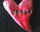 Pink Vegan Love necklace pendant - Sale