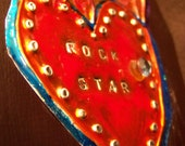 My tattooed heart is on fire for a rock star- wall art