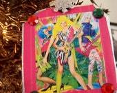 Jem and the Holograms retro ornament made with recycled paper eco friendly