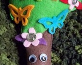 Ms.Butterfly Tree plushie made with eco felt