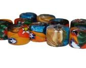 12 African Millefiori Glass Trade Beads