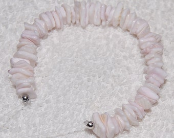White Shell Stacker Chip Mini Strand for making beach necklaces or bracelets