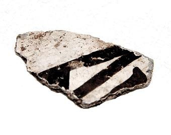 Black and White Anasazi Pottery Shard (Number 14)