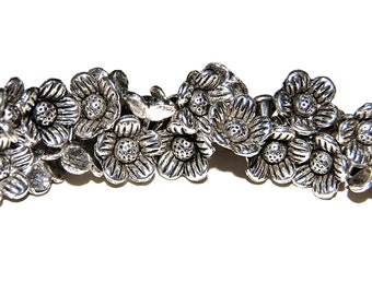 10 Pewter Sunflower Charms