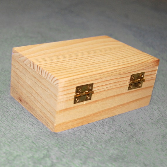 Unfinished Wooden Box for Embellishment Keep Jewelry or Other Small Items
