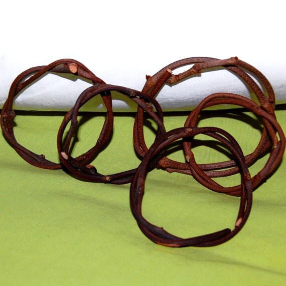 5 Real Wood Mini Vine Wreaths - Woodland Craft Supply or Holiday Home Decor
