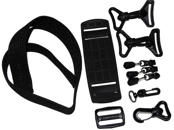 10 Piece Black Handbag Hardware for Upcycle
