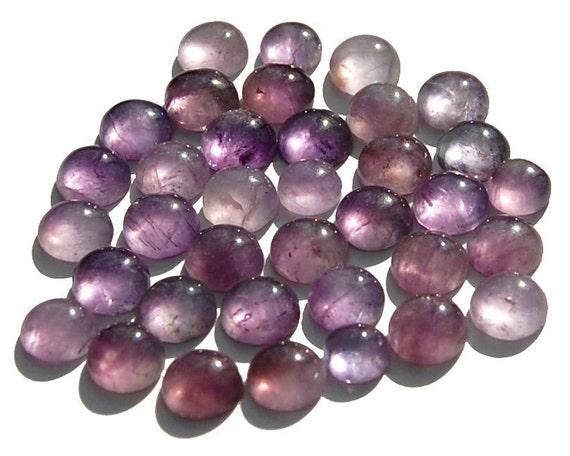 36 Round Medium Purple Amethyst Cabs