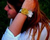 Yellow rosette cuff