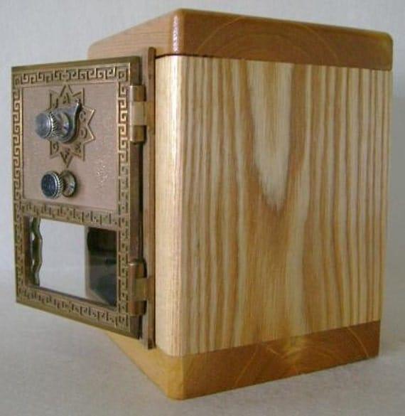 wooden safe box