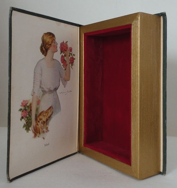 The Eyes of The World Hollow Book Keepsake Box from Vintage Book Cover Romance Roses Valentine Treasure box