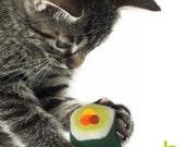 HAPPEE KITTEE - ORGANIC CATNIP SUSHI CAT TOYS - Gift set of 8