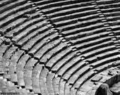 Stairs of love 6x9 inches fine art photograph Signed print Details of an ancient amphitheater in black and white Turkey