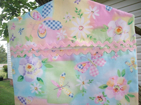 Summer Sparkle Clothespin Bag, Recycle Grocery Bags or Closet Organizer
