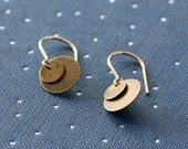 bellissima - gold and brass coin earrings