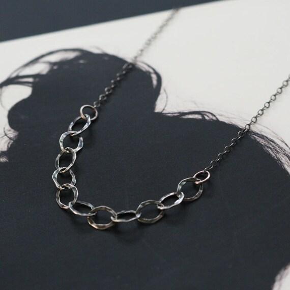 thelma - oxidized silver chain necklace by elephantine