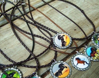 For the Boys Real Horse Necklaces on Leather and Rubber Cords Birthday Girl Party Favor Necklaces 10pk