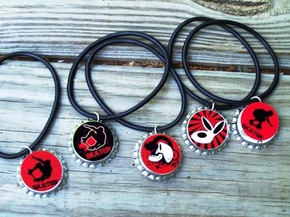 Skateboard Skater Club Team Boys Girls Kids Sleepover Teens Swap Party Favor Rubber Bracelet 12pk