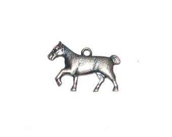 Vintage Antique Sterling Horse Charm