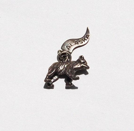 Vintage Sterling Alaska Bear Charm