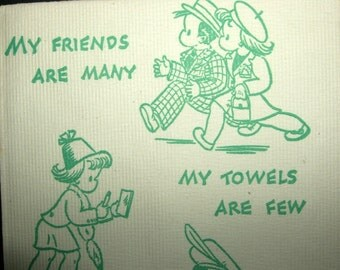 VINTAGE PAPER NAPKINS WITH CHILD SCENES (NEAT)