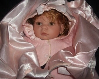 VINTAGE PINK BABY BUNTING WITH HAT