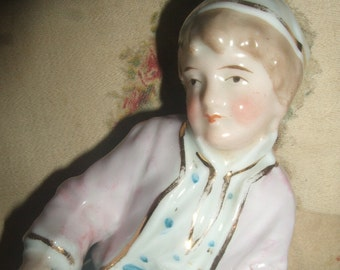 Vintage German Boy Sauce Container