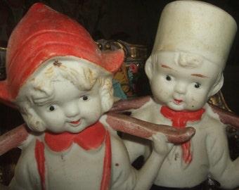 Vintage Japan Dutch Kids Figurines