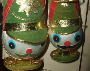 Set of  Vintage Japan Toy Soldier Ornaments