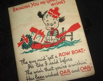 Vintage Progressive Child's Christmas Card