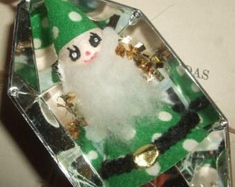 Vintage Japan Wizard Santa Christmas Ornament