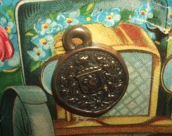 Vintage Lion Shield Pendant