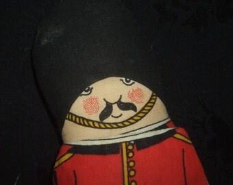 Vintage Guardsman Ragbook Toy