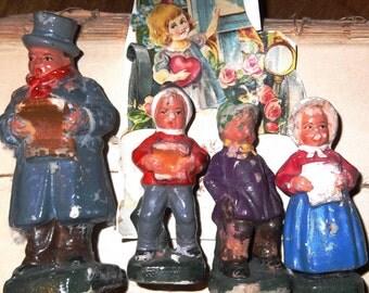 Vintage Christmas Carolers Set