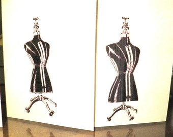 Dress Form Fashion Note Cards