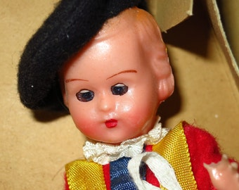 Vintage Italian Boy Doll in Box