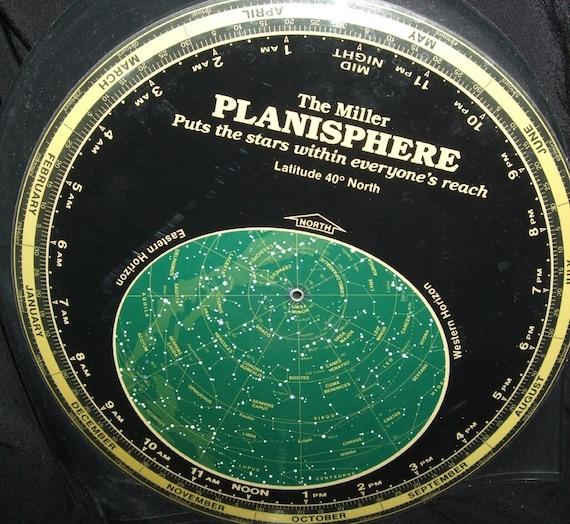 vintage miller planisphere spinning star chart. Black Bedroom Furniture Sets. Home Design Ideas