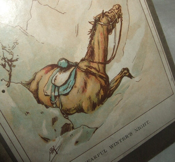 Early 1900s Fearful Winter's Night Book