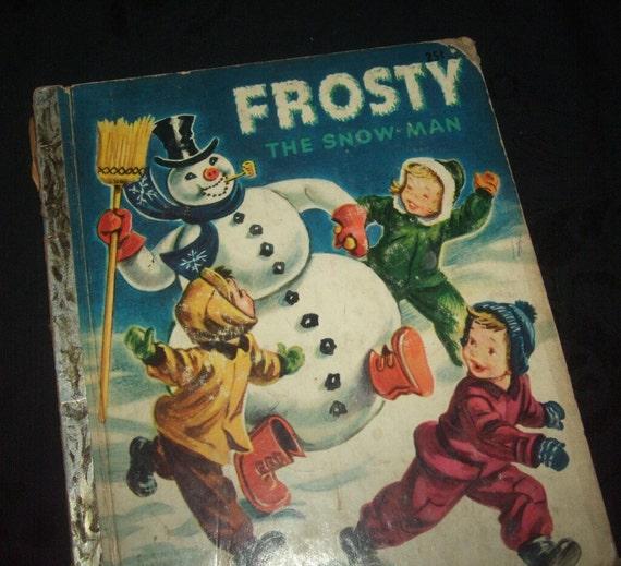 1951 Frosty the Snow Man Little Golden Book