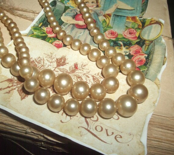 Vintage Double-Strand Faux Pearls