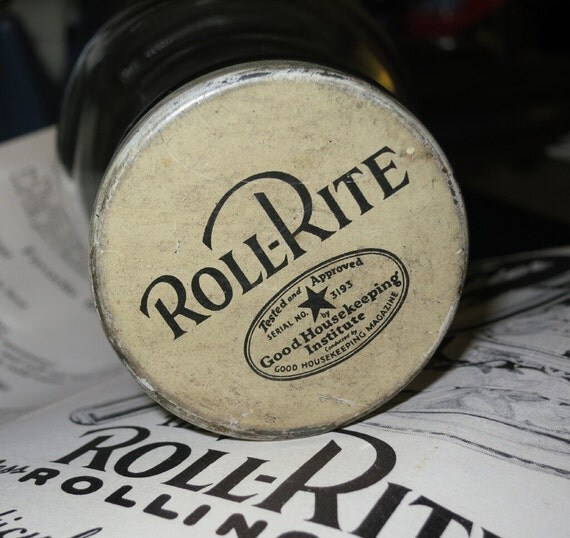Old Roll-Rite Glass Rolling Pin