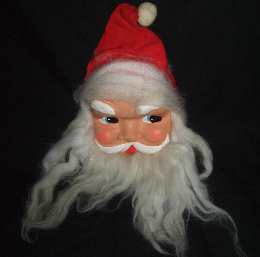 Vintage santa face with beard