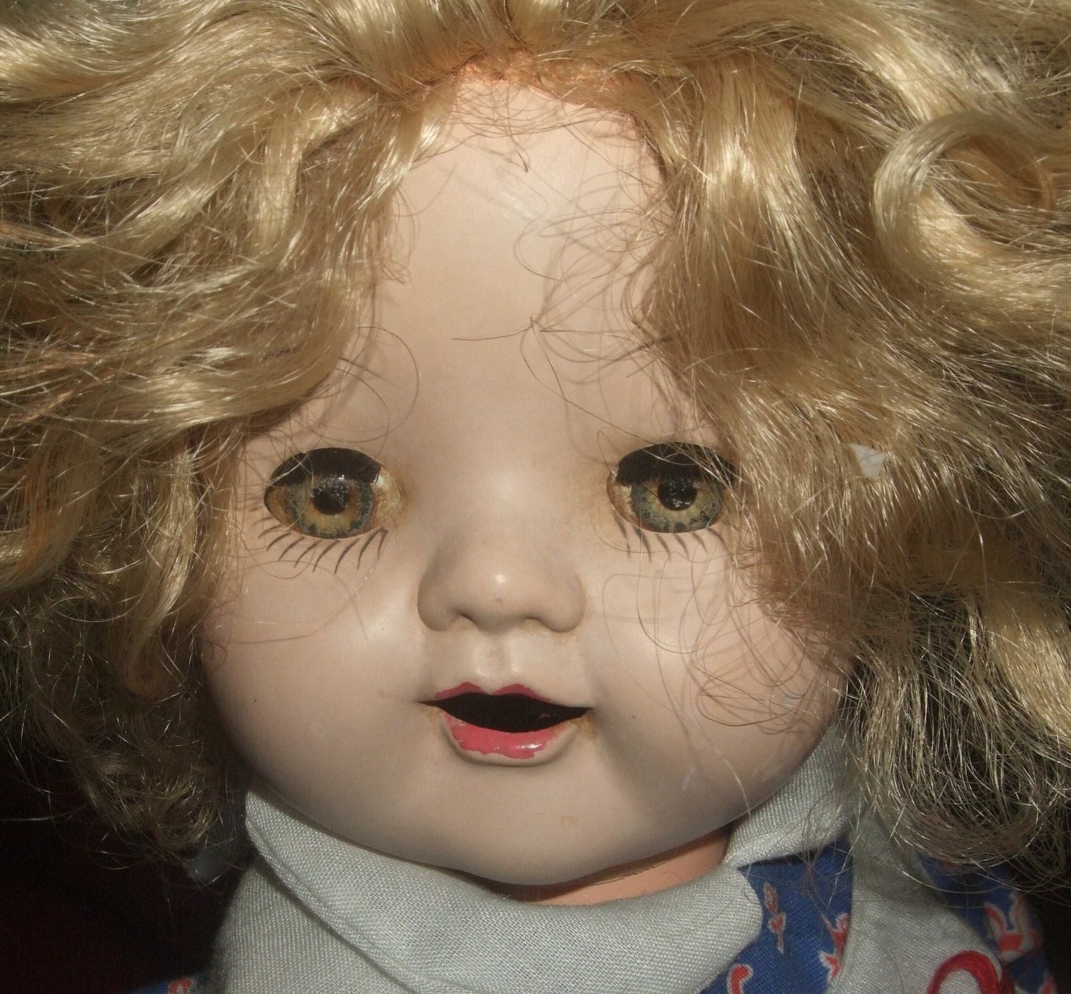 Antique Baby Doll With Teeth