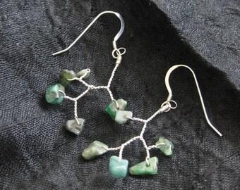 Emerald Branch Earrings