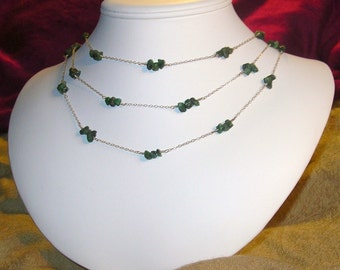 Royally Ornamented. Genuine Emerald Necklace and Earring set