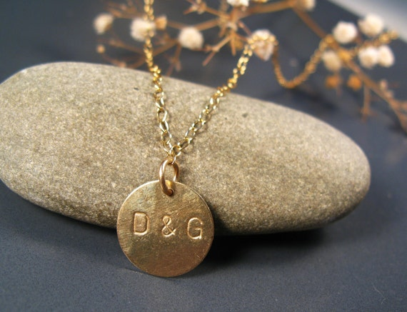 Initials jewelry, Personalized necklace, Gold initial necklace, personalised pendant, 14k gold filled,  personalized jewelry
