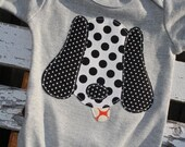 Reserved for gemmamurrell Puppy Applique Bodysuit Onesie Baby Boy size 3-6 months