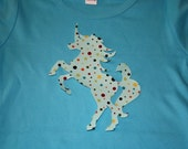 Unicorn Applique Tshirt Long Sleeved Toddler Girl size 4T  Reserved for TwoSeasideBabes